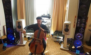Statement Tower Cellist