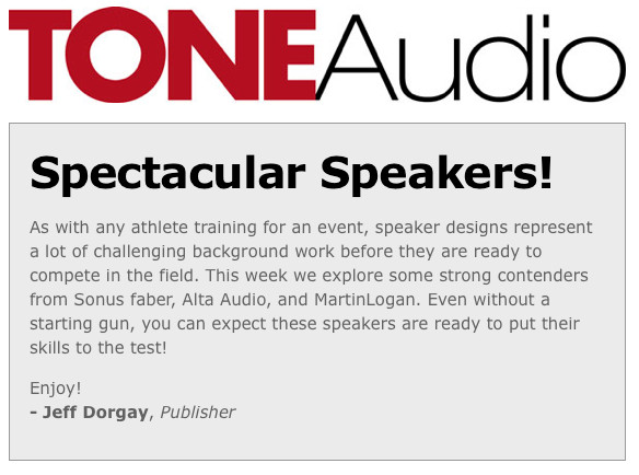 Tone Audio Spectacular Speakers